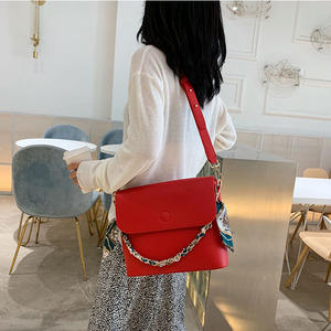Image 3 - Wild Texture Crossbody Bags Womens Handbag The New Fashion PU Womens Solid Color Chain Shoulder Bags