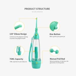 Image 4 - Irygator doustny środek do czyszczenia zębów strumień wody pod ciśnieniem ząb zdrowie woda nie elektryczny irygator do jamy ustnej Flossing Flosse