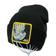 Dragon Ball Z majin vegeta Knitted Hat Japan Anime Embroidery Crochet Elastic Knit Cap Men Women Winter Warm Beanie hats