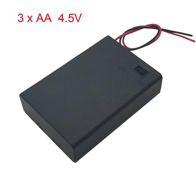 3 AA 4.5 فولت صندوق حامل البطارية الحال مع التبديل جديد 3 AA 2A صندوق حامل البطارية الحال مع التبديل 4.5 فولت