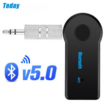 Receptor bluetooth 5.0 aptx ll 3.5mm aux jack adaptador de áudio sem fio para o carro pc fones microfone 3.5 bluetooth 5.0 receptor
