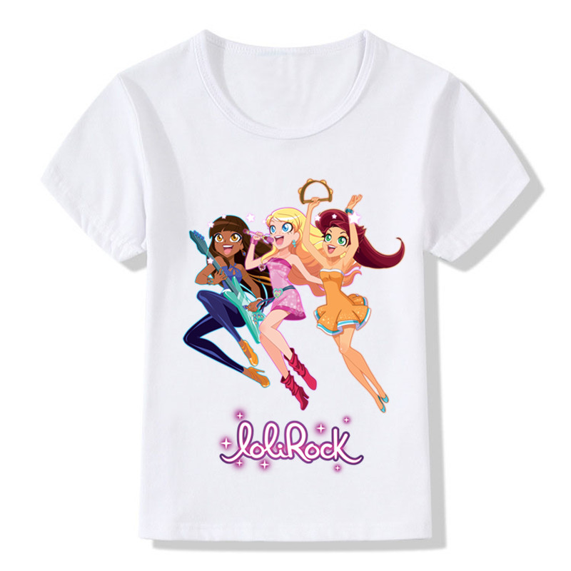 H1061ab082e414b08b53f8e31d2910b58X Children LoliRock Magical Girl Funny T-shirt Boys Girls Anime Great s T shirt Kids Clothes