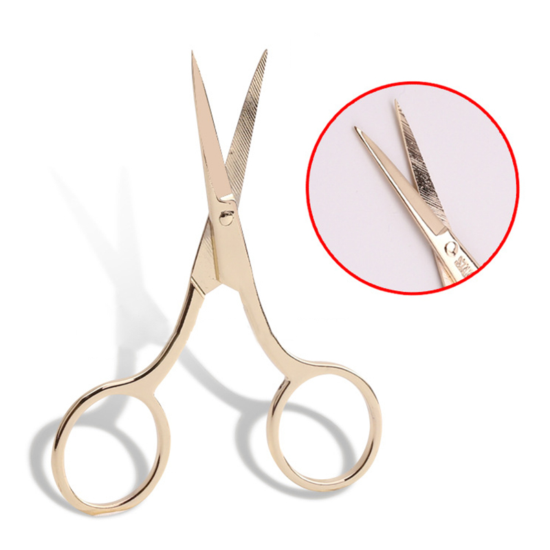 Professional Makeup Scissor Trimming Eyebrow Eyelash Forehead Hair Beard Small Scissor Portable Stainless Steel Make Up Tool