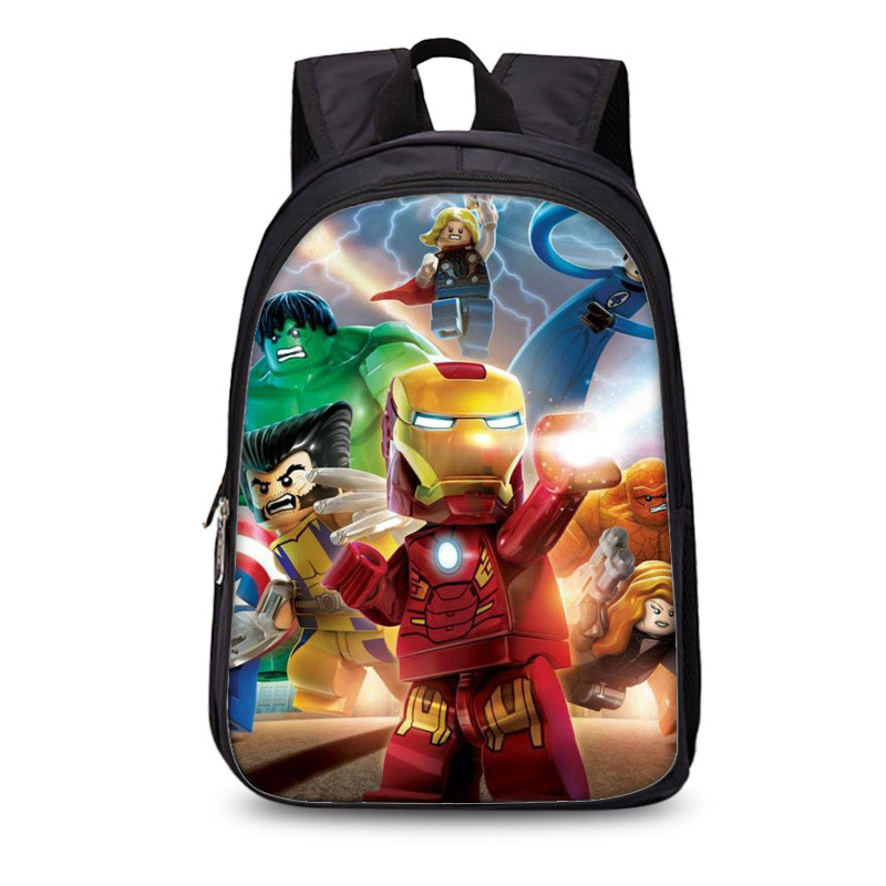Hot Games Backpacks Gifts Boys&Girls Kids Cartoon Movie Lego Ninjago Pattern School Bag Fashion Mochilas Para Ninos