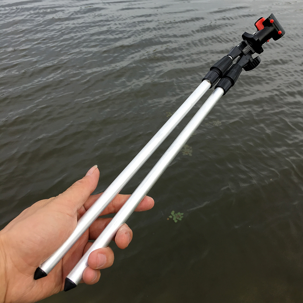Aluminum Alloy Fishing Rod Holder Bipod Supporter