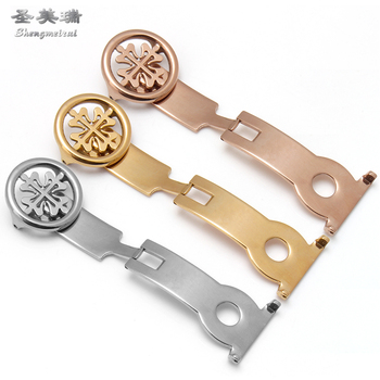 Shengmeirui 18MM 20MM silver gold rose gold folding buckle FOR patek phillippe watch with accessories