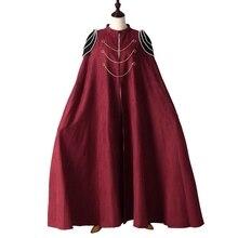 Зимний черный плащ ведьмы Винтаж плечо узел средневековый плащ косплей костюм