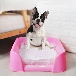 Image 4 - 애완 동물 훈련 화장실 휴대용 개 고양이 사소한 트레이 애완 동물 훈련 쓰레기 상자 울타리 실내 야외 사용 애완 동물 용품