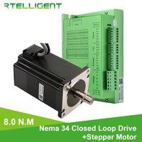 Factory Outlet Nema 34 8.0N.M Closed Loop Stepper Motorwith Nema34 T86 Closed Loop Stepper Motor Driver Stepper Driver CNC Kit