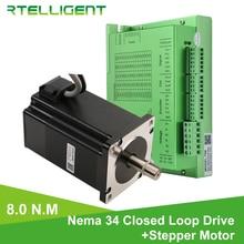 חנות מפעל Nema 34 8.0N.M סגור לולאה צעד Motorwith Nema34 T86 סגור לולאה מנוע צעד נהג צעד נהג CNC קיט