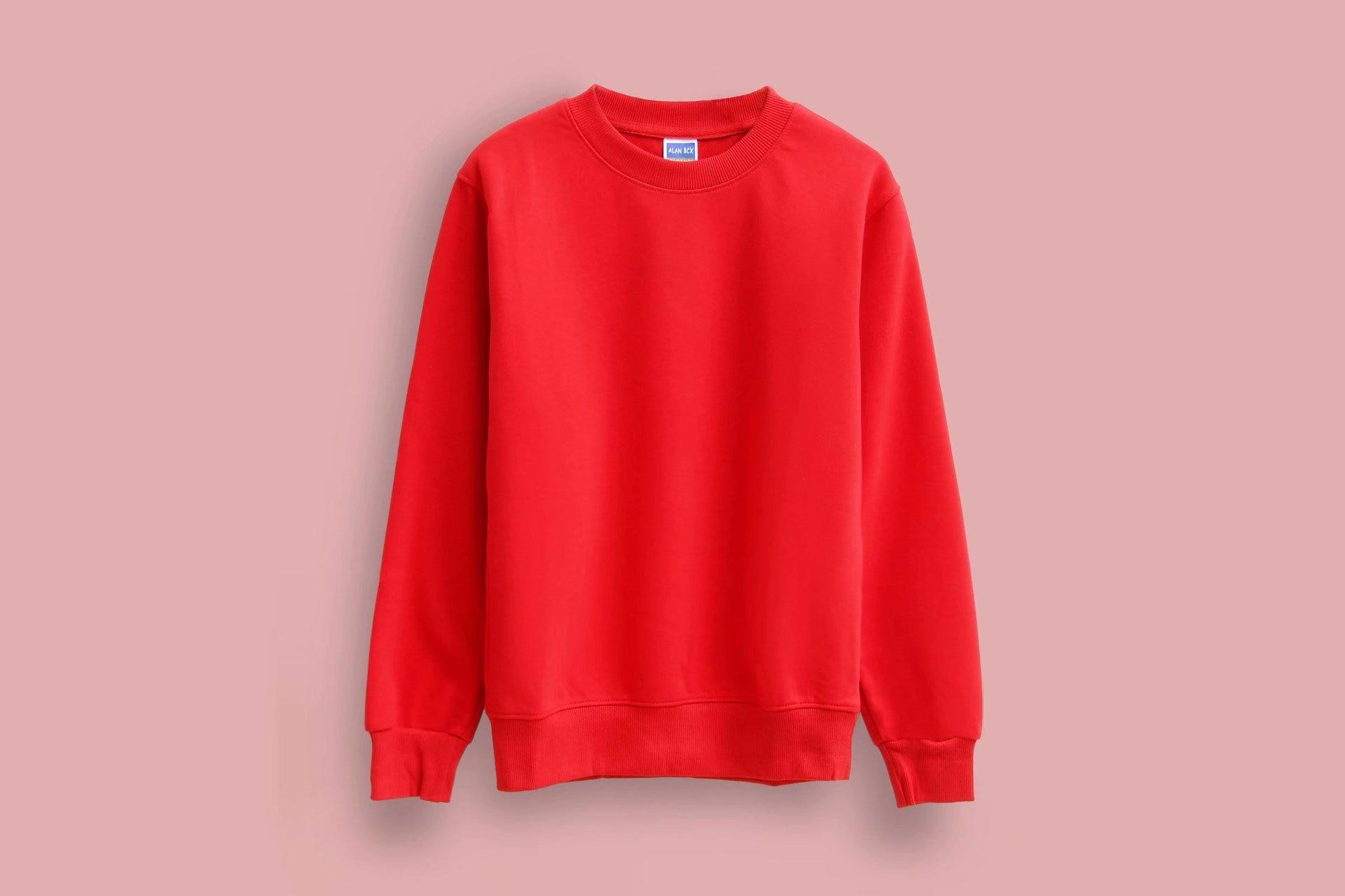 Solid Color Sweatshirt Autumn And Winter Women's Sweatshirt Casual  Hoodie