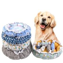 Mats Velvet Plush House Pet-Bed Dog-Products Cat Washable Deep-Sleep Super-Soft And Pumpkin