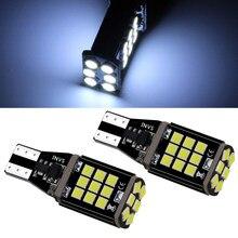 2 pièces voiture ampoule LED T15 4014 45smd feux de freinage décodage Stepless mettre en évidence lumière inverse clignotant canbus voiture accessoires