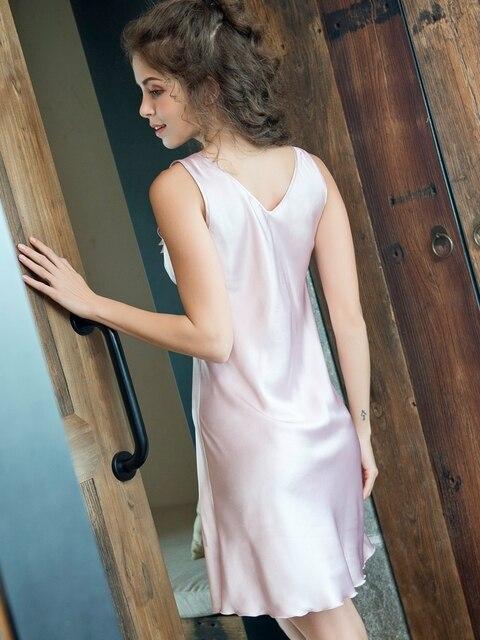 Femme nuit vêtements de nuit femmes dormir robe glace soie mince sans manches fronde gilet jupe de nuit M-4XL grande taille vêtements de nuit