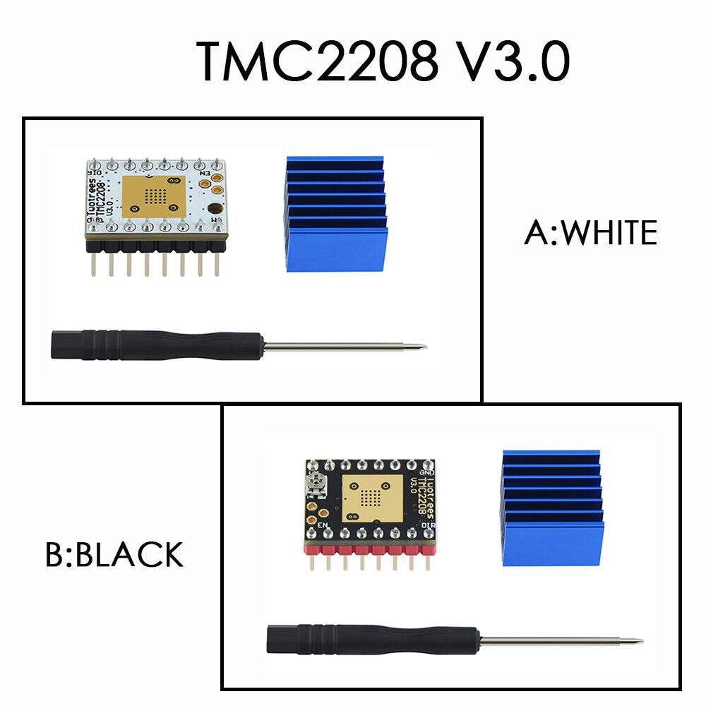 Драйвер шагового двигателя TMC2208 V3.0 для двух деревьев, запчасти для 3D-принтера TMC2130 TMC2209 для SKR V1.3 V1.4 MKS GEN Ramps 1,4 MINI E3