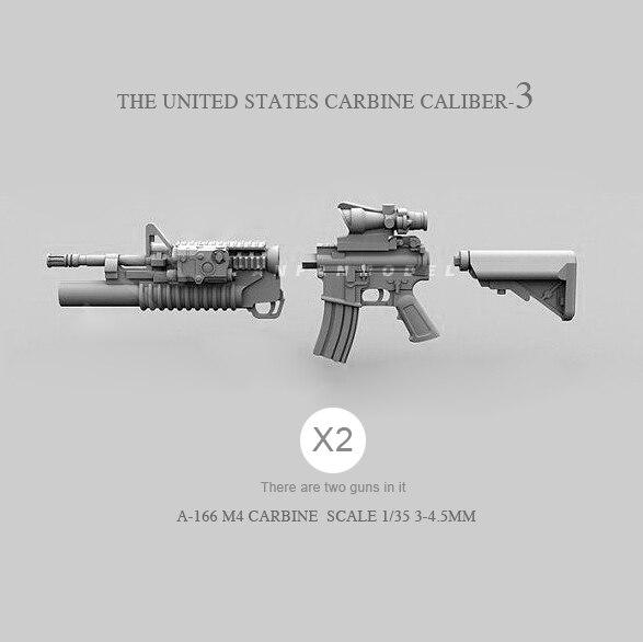 1/35 Resin Soldier Model Accessories US M4 (2pcs 2-3CM) A-166