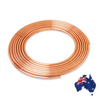 5/16 Inch Diameter 5m Soft Coil Copper Brass Tube Hose Air Conditioner Copper Pipe Refrigerant Gas Tube DIY Cooling