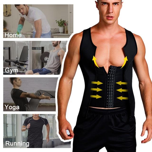 Slimming Belt Belly Men Slimming Vest Body Shaper Neoprene Abdomen Fat Burning Shaperwear Waist Sweat Corset Dropshipping 3