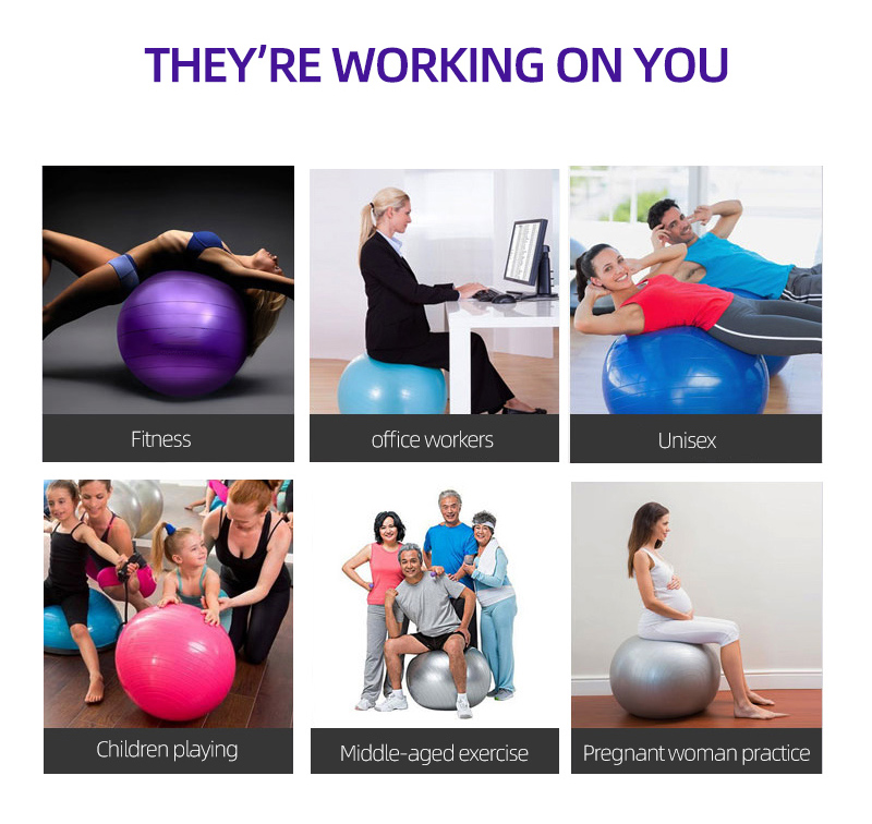 COPOZZ Exercise Ball/Yoga Balls Pilates for Fitness/Gym/Workout 18