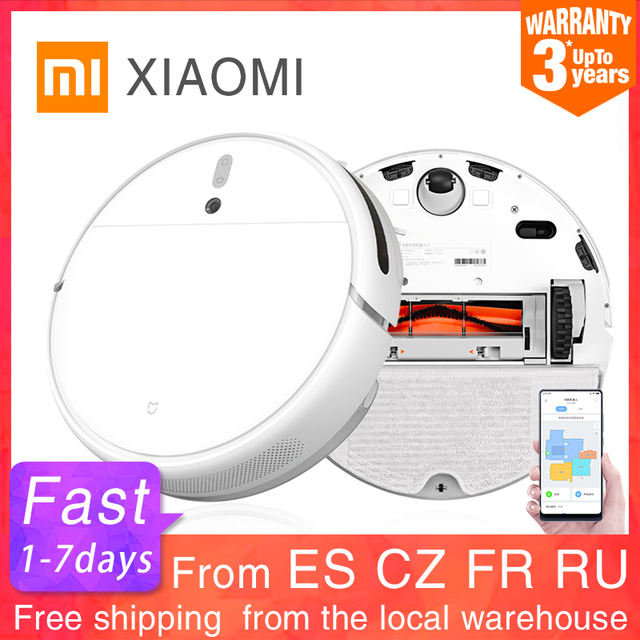 $ US $257.15 XIAOMI MIJIA Mi Sweeping Mopping Robot Vacuum Cleaner 1C for Home Auto Dust Sterilize 2500PA cyclone Suction Smart Planned WIFI