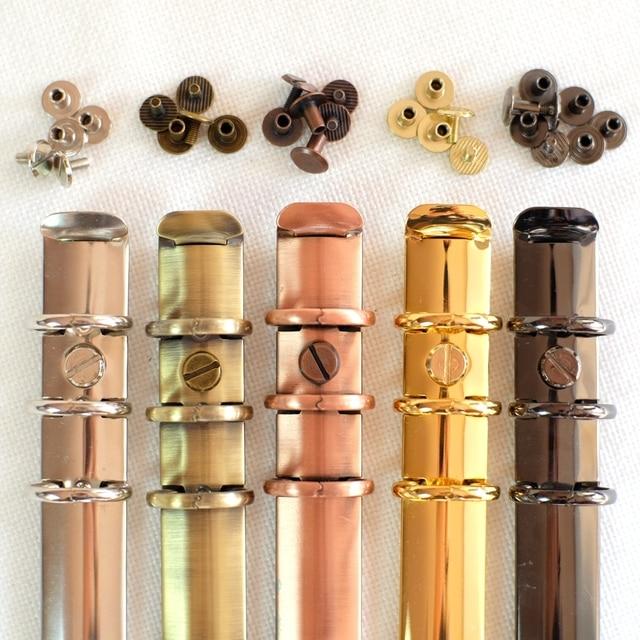 100pcs Colorful Metal Screws for Spiral Binder Loose Leaf  Clip 5Colors Silver/Bronze/Red bronze/Grey/Golden 4mm/7mm/10mm sizes