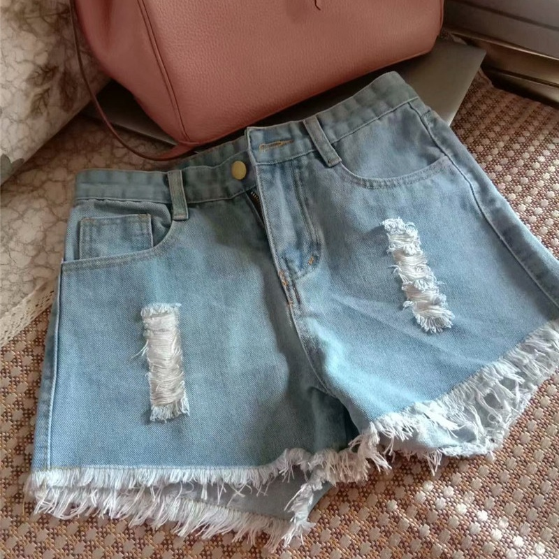 Spring / Summer 2020 Casual Women's Shattered Blue Jeans Shorts Mini Shorts  905