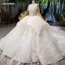 HTL1294 ลูกปัดApplique Wedding Gowns Peplumยาวชุดแต่งงาน 2020 ชุดบอลOffไหล่โบสถ์ชุดเดรสสำหรับสตรี