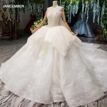 HTL1294 paciorek aplikacja suknie ślubne Peplum długi pociąg suknia ślubna 2020 suknia balowa Off ramię kościół sukienki dla kobiet