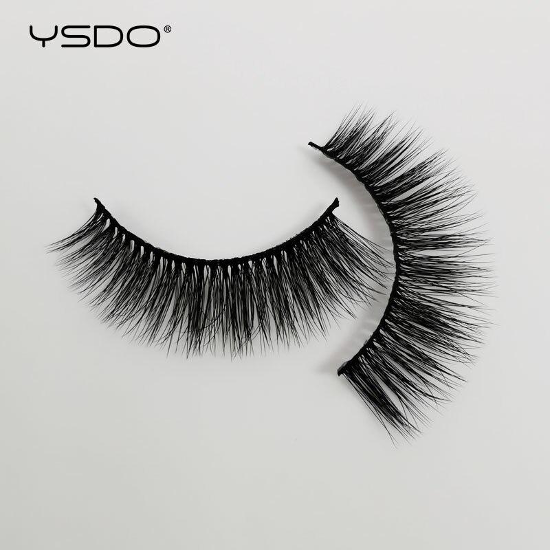 YDSO Natural Hair 5 Pairs 3D Mink Lashes Tapered Mink False EyeLashes Dramatic MakeupFluffy Lashes Natural Long Soft EyeLashes