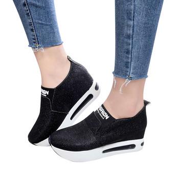 Buty Sagace damskie buty zimowe okrągłe Toe Slip-on Walking buty damskie jednokolorowe buty sportowe płaskie buty do kostki damskie tanie i dobre opinie Płótno ANKLE Bling Mieszane kolory boots Mieszkanie z Podstawowe NONE Okrągły nosek Zima RUBBER Niska (1 cm-3 cm) Pasuje prawda na wymiar weź swój normalny rozmiar