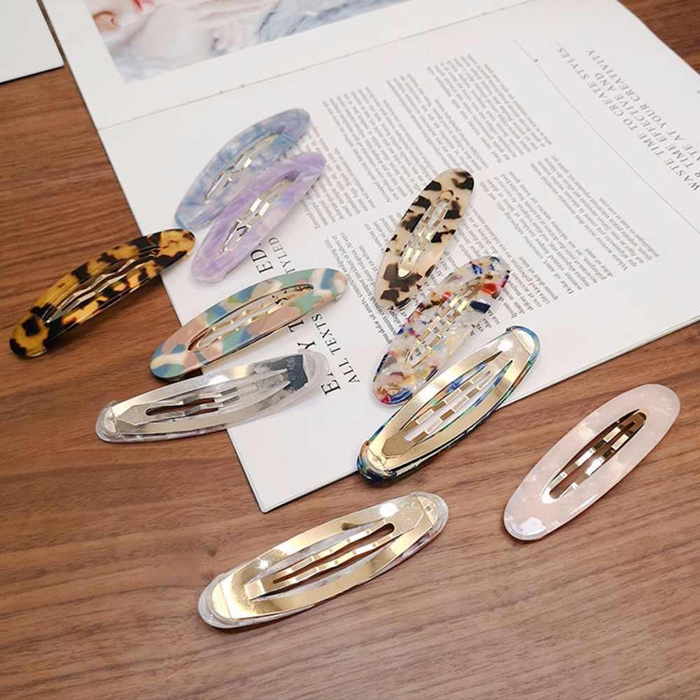 Lindo Mujer Leopardo Pelo Cabello Clip De Acetato Vintage Pin Bobby Pasador de pelo peine