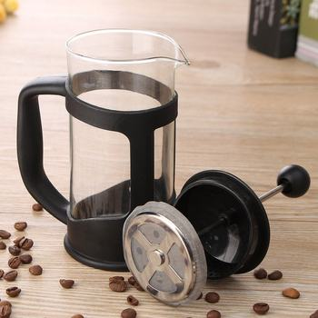 French Press Coffee/Tea Brewer Coffee Pot Coffee Maker Kettle 350ML Stainless Steel Glass Barista Tools Coffee Carafe 5
