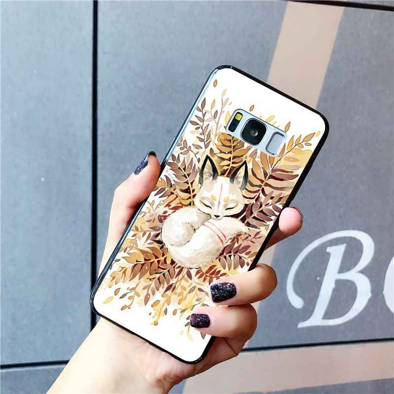 Maiyaca Hewan Serigala Di Alam Liar Musim Gugur Phone Case untuk Samsung Galaxy S10 S10E S6 S7 S8 S9 Plus S10lite s5 M10