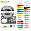 1 шт. ленты для этикеток SS12KW совместимы с EPSON LW-300 LW-400 LW-600P LW-700 принтера (12 мм * 8 м черный на белом цвете)
