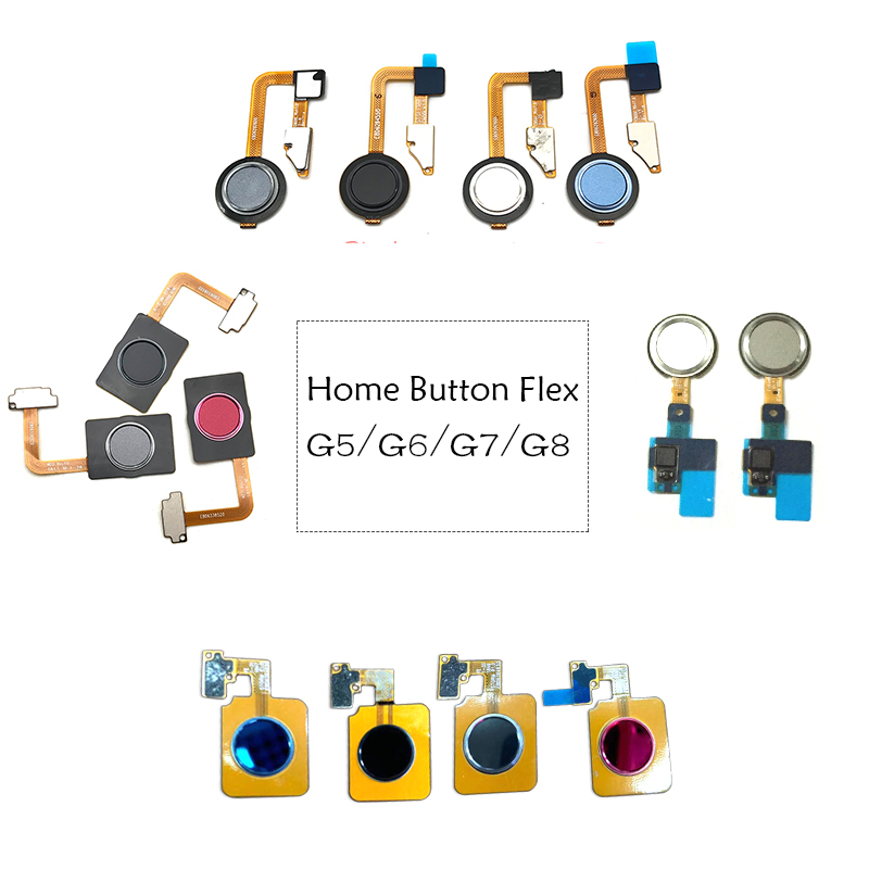 New For LG 5X G5 G6 G7 G8 Home Button FingerPrint Touch ID Sensor Flex Cable Ribbon Replacement Parts