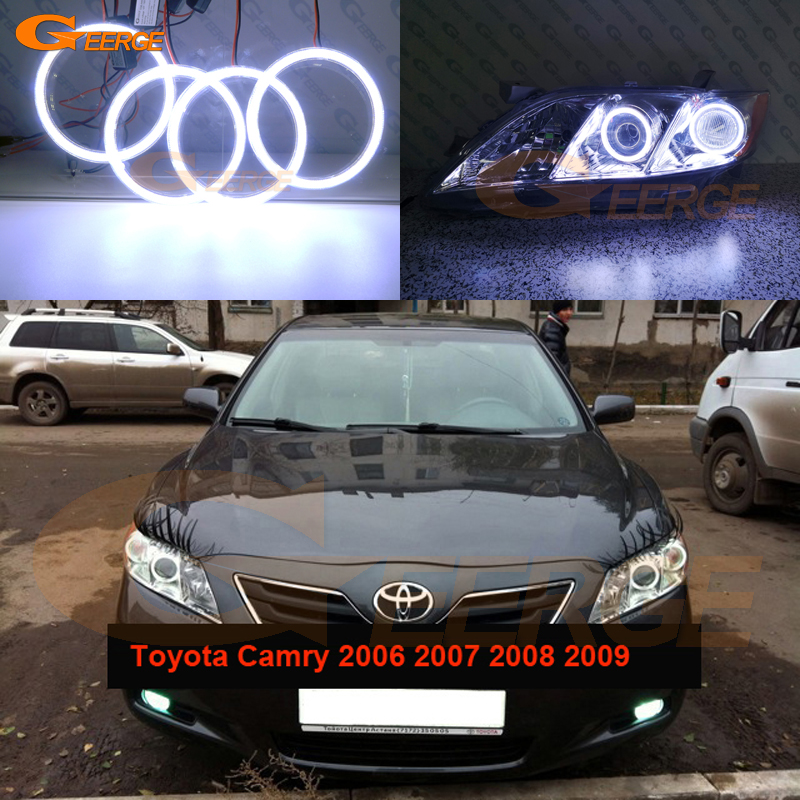 For Toyota Camry XV40 pre facelift 2006 2007 2008 2009 Excellent angel eyes Ultra bright illumination