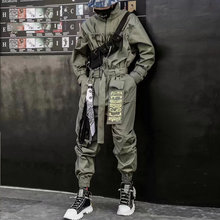 2020 Hip Hop Streetwear tute uomo nastro ricamato pantaloni Cargo pagliaccetti manica lunga Joggers Techwear uomo