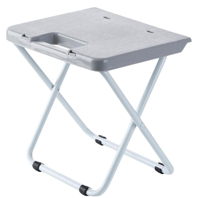 ELEG-Folding Light Weight Campstool Portable Train Stool Adult Plastic Small Chair Home Folding Ottomans Bench
