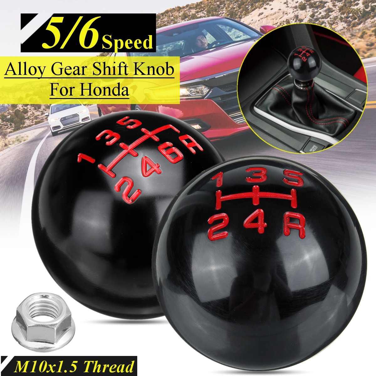 Gear Shift Knob,6 Speed Aluminum Alloy Manual Shift Knob Shifter Gear Stick Shift Lever Head for Honda Series M10x1.5 Thread