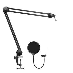 Image 1 - מתכוונן מיקרו טלפון זרוע כבד החובה מיקרו טלפון Stand עם מיקרופון מסנן עבור הקלטת קול