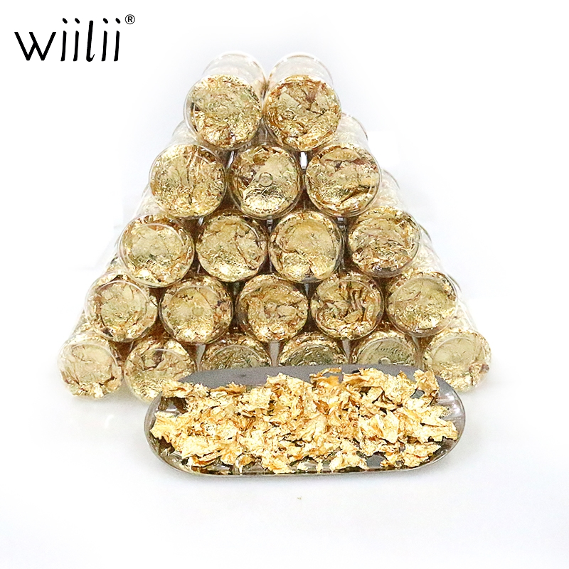 20PC Gold Edible Party Cake Food Decoration Candy 24K Foil Cupcake Cake Toppers Celebrations Candy Shaker Jar Wedding Shower