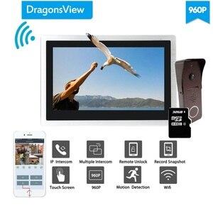 Image 2 - Dragonsview Wifi Doorbell Camera 960P Home Intercom Wifi Video Door Phone System Unlock Message Motion Record Waterproof