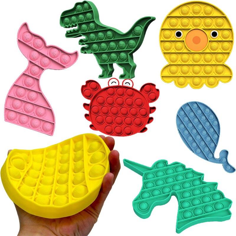 Пуш-ап поп пузырь сенсорная игрушка для аутистов потребности мягкими снимающий стресс фиджет игрушки для взрослых и детей Забавный антистр...