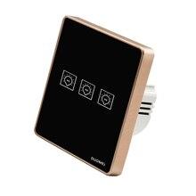 Interruptor de luz inteligente wifi 2 vías 2 gang control remoto inalámbrico sensible pantalla táctil interruptor de pared para casa inteligente