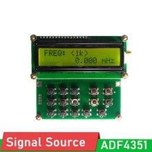 Adf4351 vfo fonte, fonte de sinal simples 35mhz-4400mhz oscilador de frequência variável gerador de sinal
