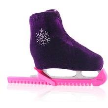 1 пара, обувь для фигурного катания на коньках, бархатная, с алмазным покрытием, роликовые коньки, анти грязная, байковая, эластичная, для детей и взрослых, размеры s, m, l