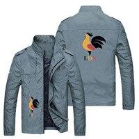 2021 el más nuevo de los hombres Gallo Delgado chaqueta Casual Zip chaqueta de béisbol 6XL de talla grande de primavera y otoño