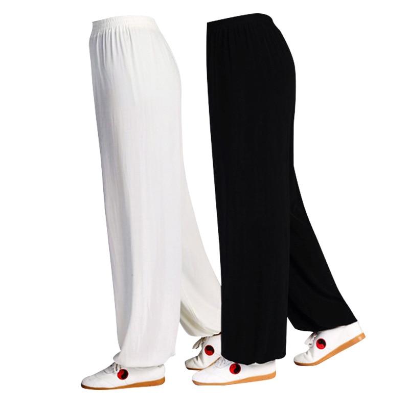 Martial Arts Tai Chi Chinese Kungfu Women Pants Men Cotton Loose Trousers Dance Yoga Fitness Running Uniform Karate Judo Pants