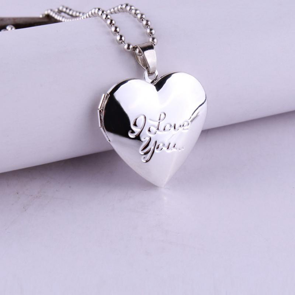 Valentine s Lover Day Gift Photo Frames Can Open Locket Necklaces Heart Pendant Necklace Jewelry For