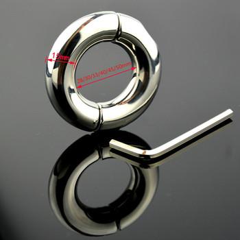 Śruba ze stali nierdzewnej pierścienie na penisa Metal blokada nasienia Cock Cage Chastity Sex opóźnienie produkt mężczyzna urządzenie Afrodisiac mężczyźni zabawka dla dorosłych tanie i dobre opinie GPOINT CN (pochodzenie) STAINLESS STEEL 28mm 30mm 33mm 40mm 45mm 50mm Penis pierścionki Shenzhen grow up silvery 50mm 45mm 40mm 33mm 30mm 28mm